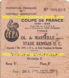 1935 Ol. Marseille bat Stade Rennais UC 3 - 0