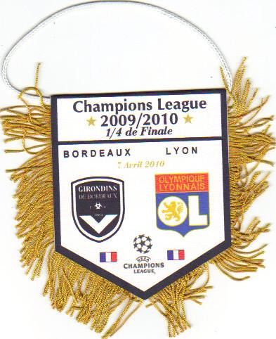 """1/4 de Finale 2009/10, fanion tirage """"privé"""""""