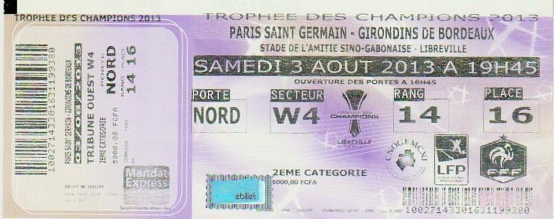 2013 à Libreville : Paris SG bat Girondins Bordeaux 2 - 1