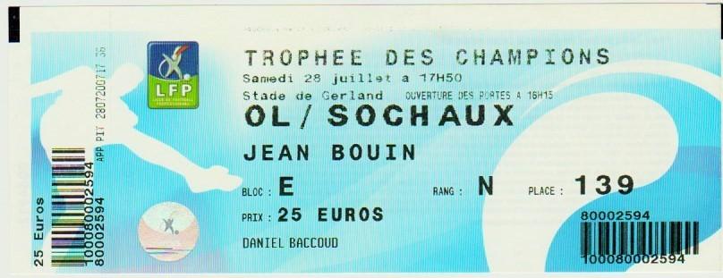 2007 à Lyon : Ol. Lyonnais bat FC Sochaux M 2 - 1