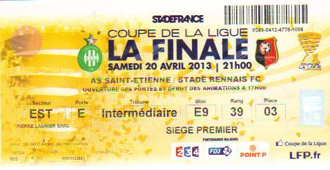 Finale 2013 AS St Etienne 1 - 0 Stade Rennais