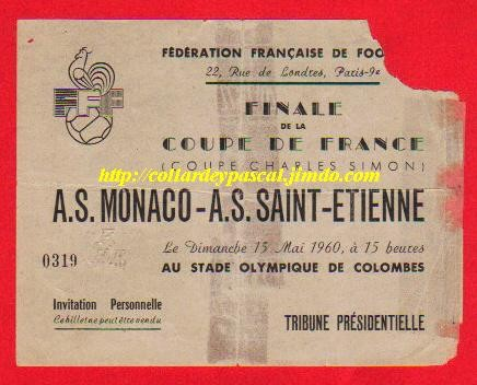 1960  AS Monaco  bat  AS St Etienne  4 - 2