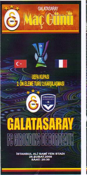 FC Galatasaray - Girondins (Programme Pirate)