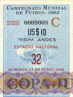 Finale Coupe du Monde 1962 : Brésil - Tchécoslovaquie (Chili)