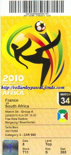 France  - Afrique du Sud (Afrique du Sud 2010)
