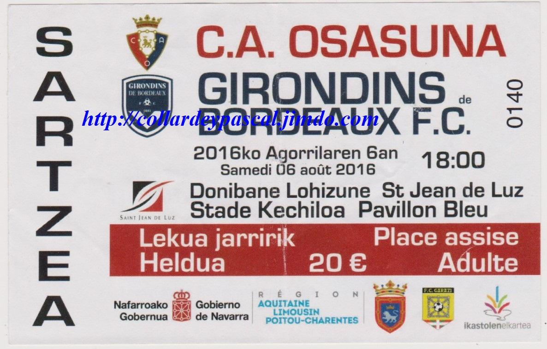 Girondins 1 - 1 CA Osasuna
