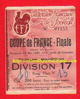 1950  Stade de Reims  bat  RC Paris  2 - 0