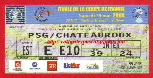 2004: Paris SG bat LB Châteauroux 1 - 0