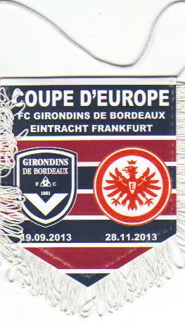 Ligue Europa 2013/14 Bordeaux - Francfort, les matchs face à tel Aviv et Nicosie ne sont pas produits