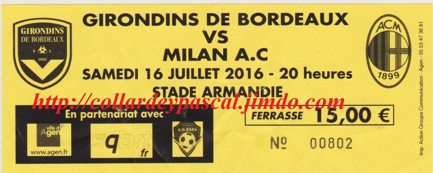 Girondins 1 - 2 AC Milan