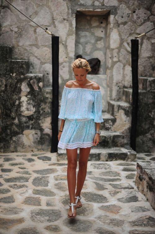 Mini robe pastel - popsugar.com