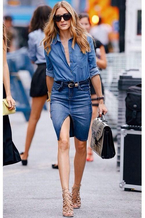 Olivia Palermo chic en total look jean