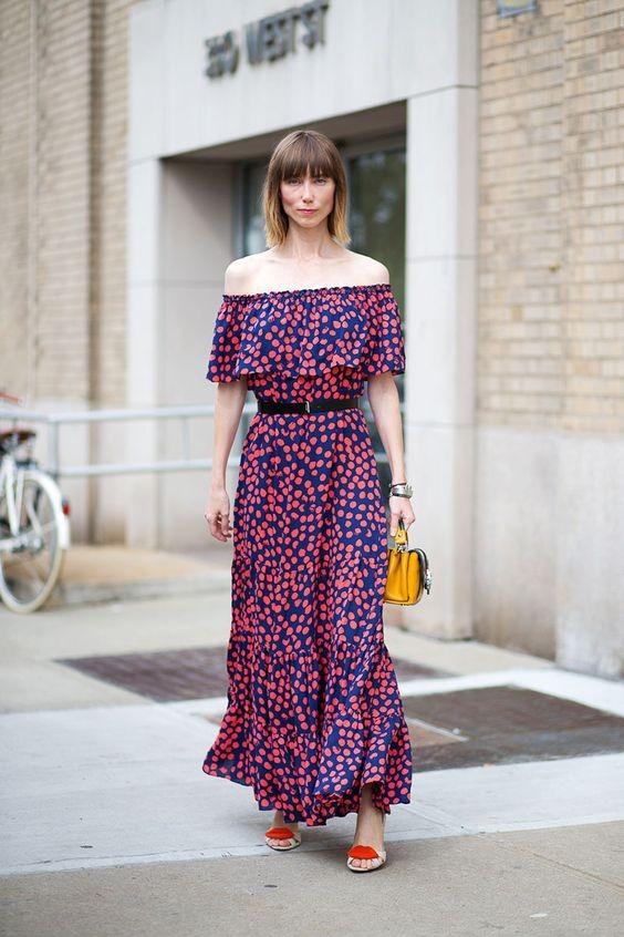 Maxi robe imprimée - harpersbazaar.com