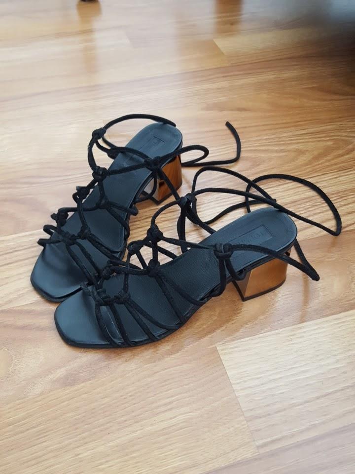 Mes sandales lacées Topshop
