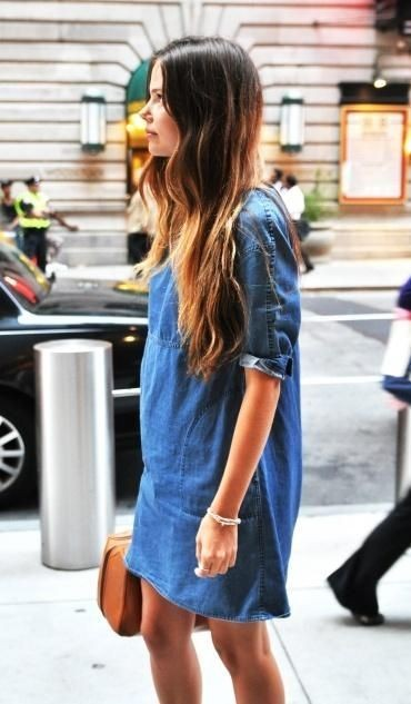 Robe en jean simple et chic - vansgirls.tumblr.com