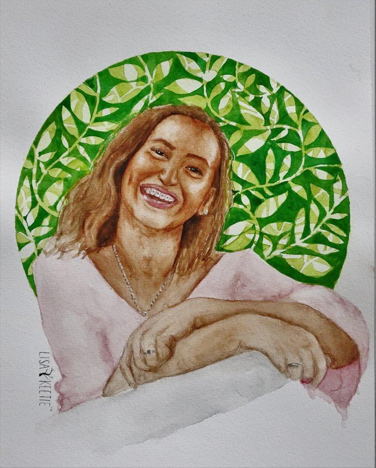 'Djifa' (2016) Watercolor on paper