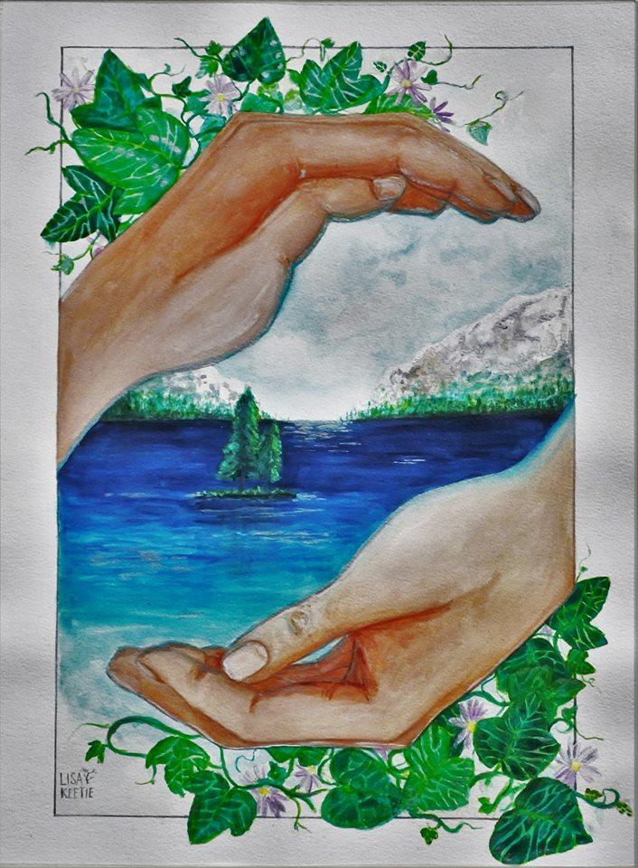 'Norway' (2015) Gouache on paper