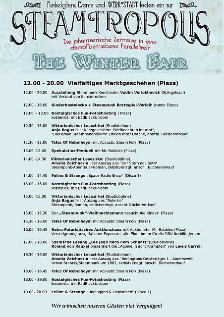 Steamtropolis Programm Werk Stadt Witten 11. 12. 2016