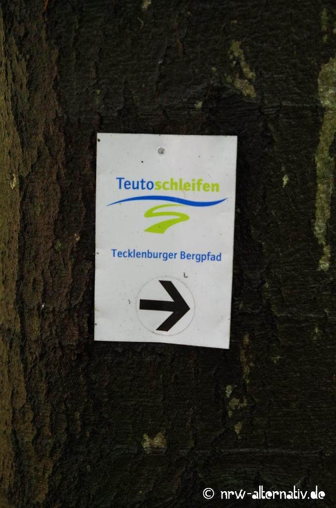Der Tecklenburger Bergpfad ist durchweg sehr gut beschildert.