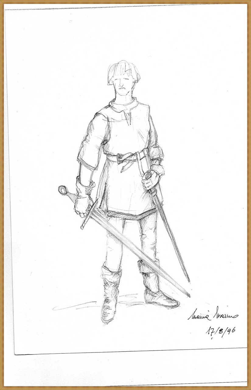 Schizzo per un cavaliere - Scketch for a knight