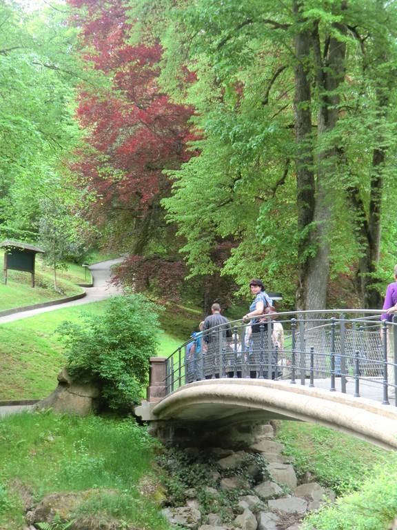 ... im Kurpark von Bad Wildbad konnte sich jeder die Kalorien von der Schwarzwälder ablaufen.