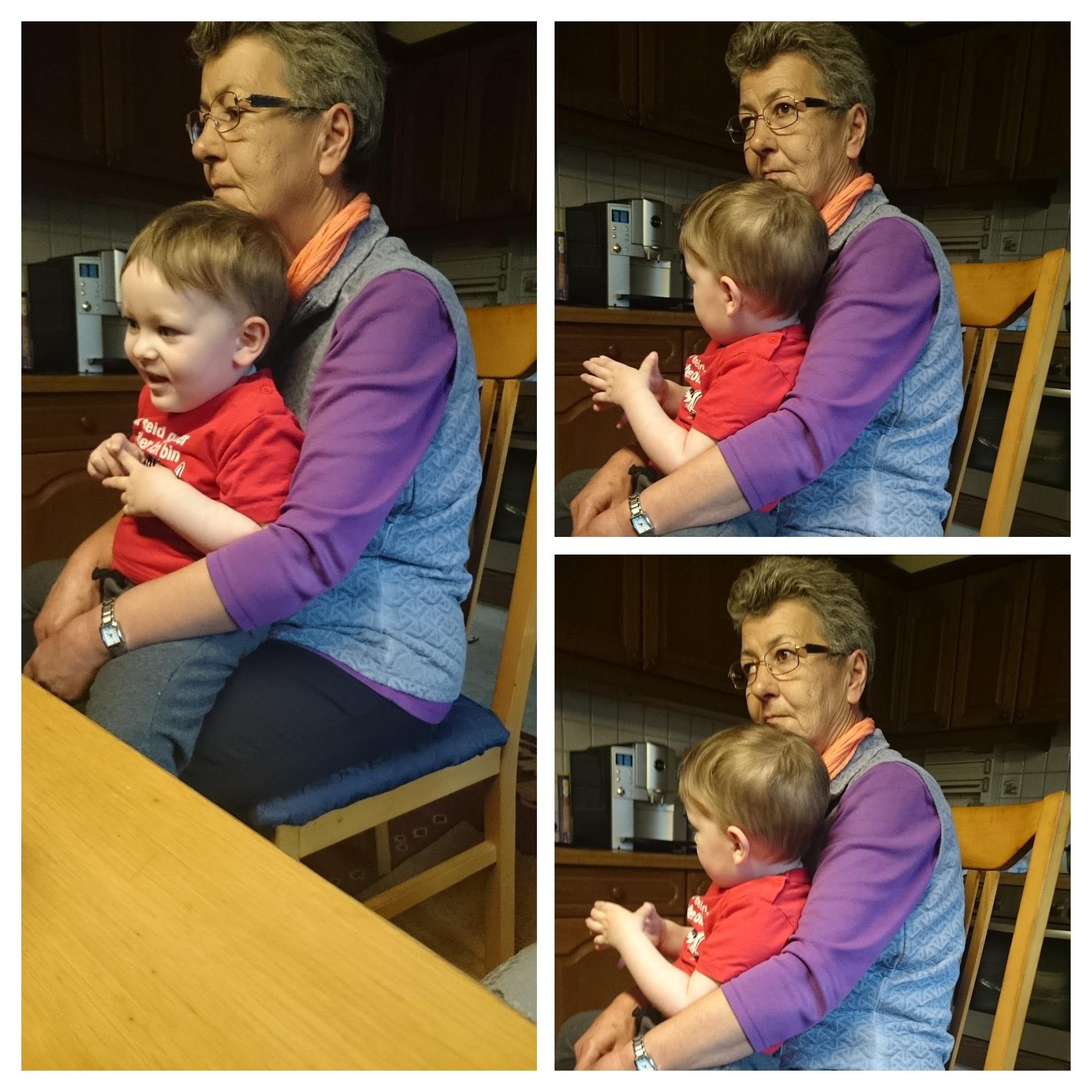 zuerst noch ein Besuch bei Oma, bevor es nach Tirol ging.