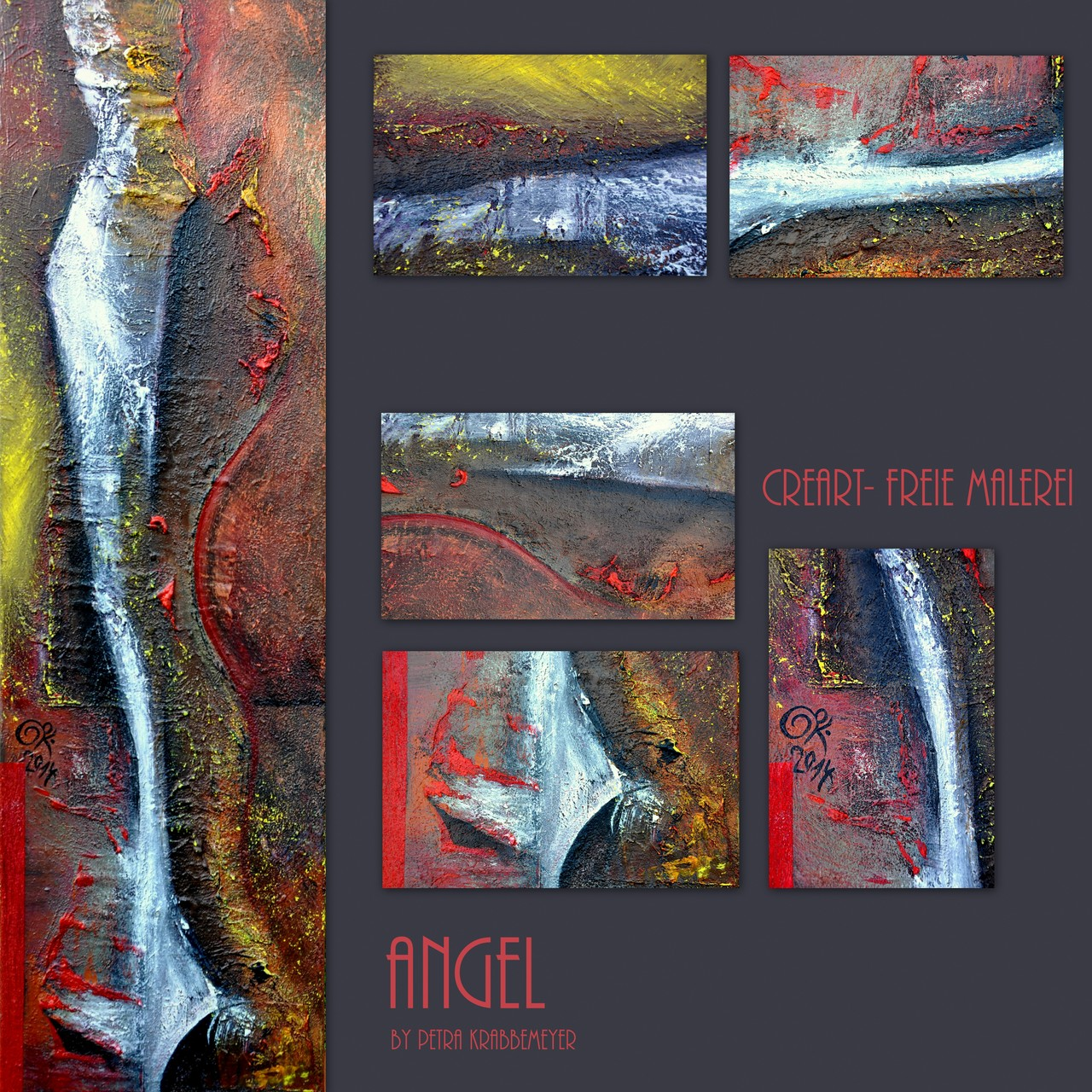 ANGEL/ Acryl auf Leinwand/ 40x100