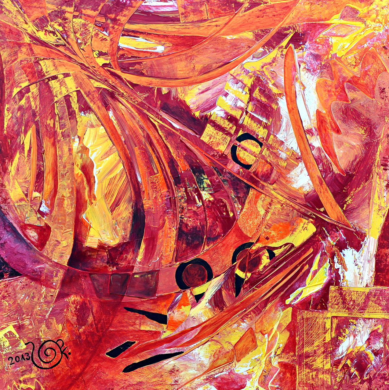 INDIAN SUMMER/ Acryl auf Leinwand/ 90X90