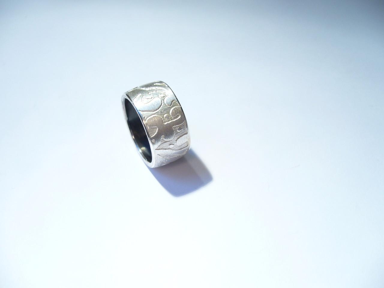 Verkauft, Ring 925/- Sterlingsilber geätzt