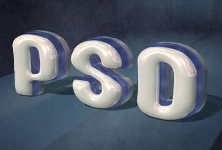 Пластиковый, 3D-текст, фотошоп