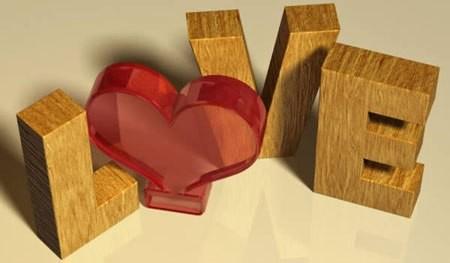 деревянный, 3D, текст, Фотошоп