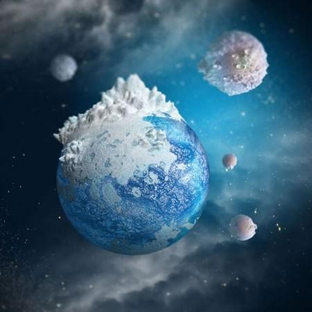 3D, планетарий, Фотошоп
