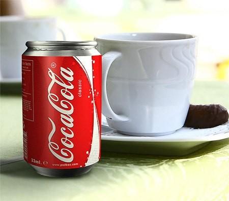 Рисуем, банка, Coca-Cola, фотошоп