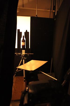 ワインボトル撮影