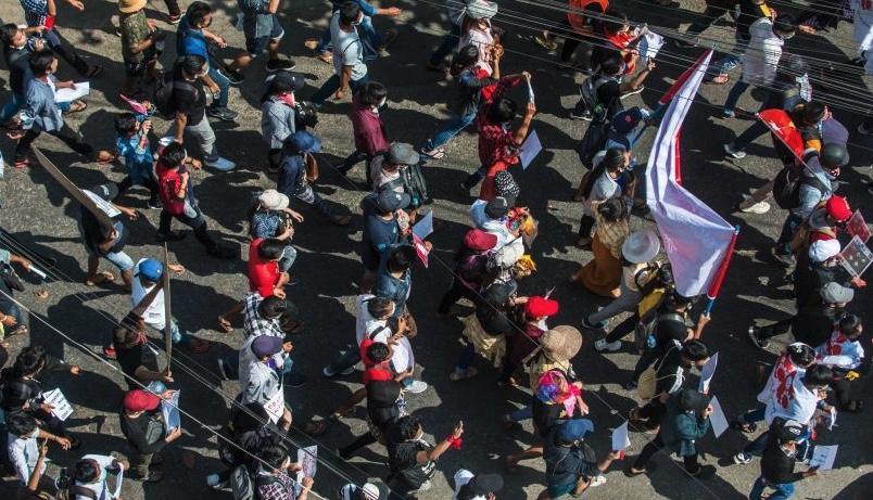 【ニュース】ミャンマー不服従デモ、全国で拡大。国軍トップも疲れ気味