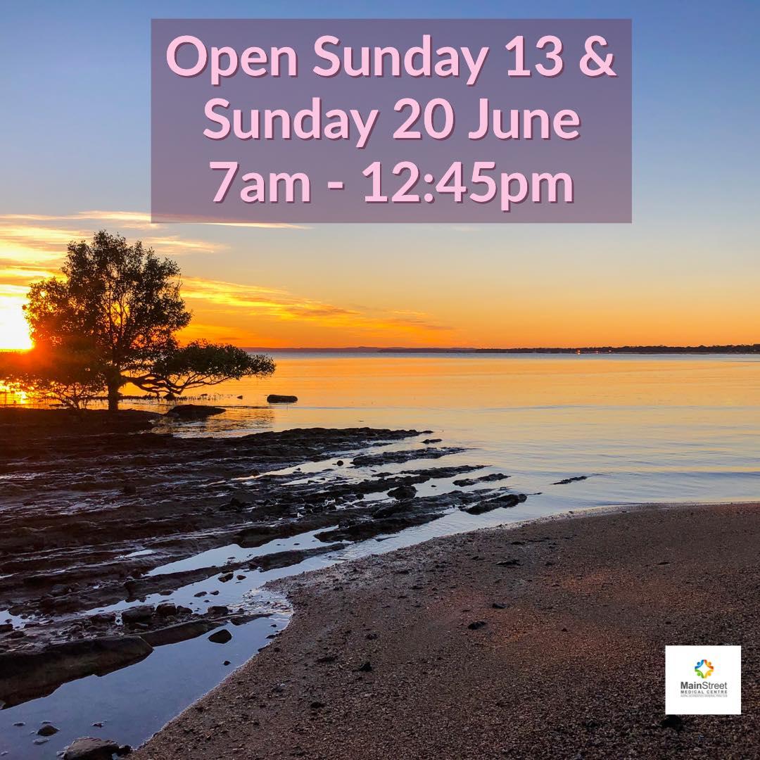 Open Sunday 13 June & Sunday 20 June
