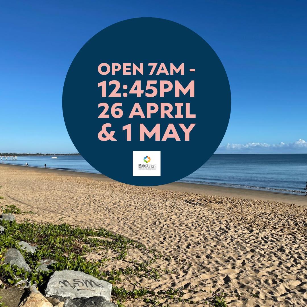 Open 26 April & 1 May