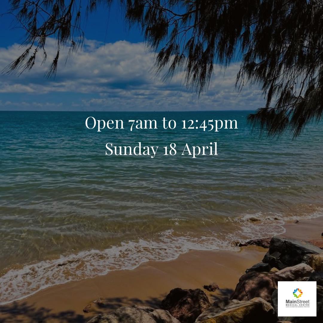 Open Sunday 18 April 2021
