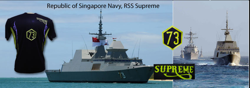 Jersey for RSS Supreme, Republic of SIngapore Navy