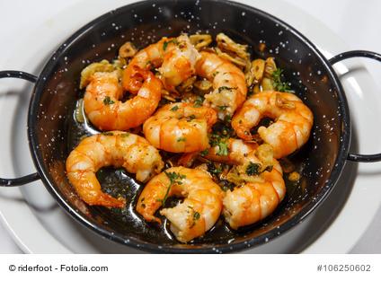 Shrimps in Zitronen- Knoblauch Olivenöl