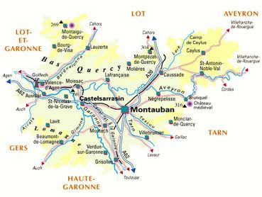 Tarn et garonne au sein de Midi-Pyrénées