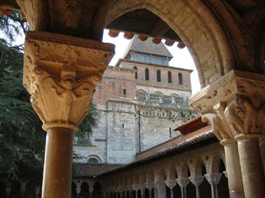Une des arcades du cloître