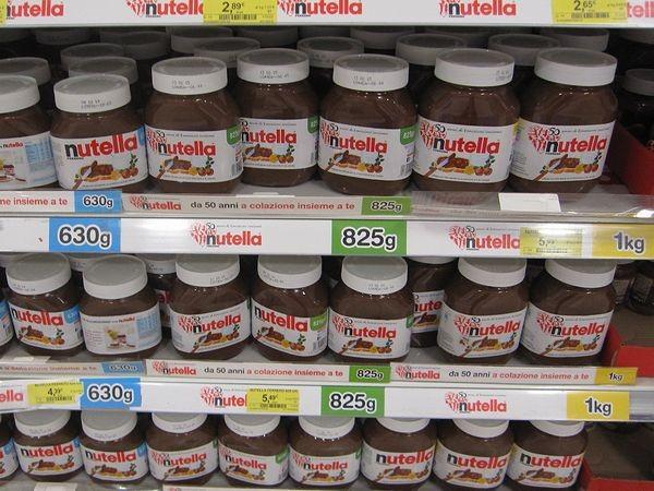 イタリア代表ヌテッラ・チョコクリーム 大きさいろいろあります