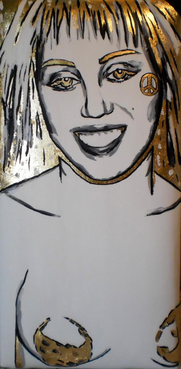 Art Miami, 2014. Acryl und Schlagmetall auf gepolsterter Leinwand, 30x60cm © Christian Benz