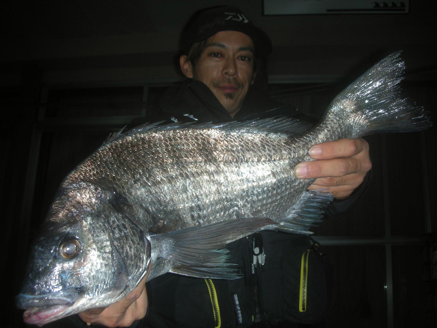 11月24日 磯釣りで青木 幹晴さん ガバチヌ50㎝オーバー