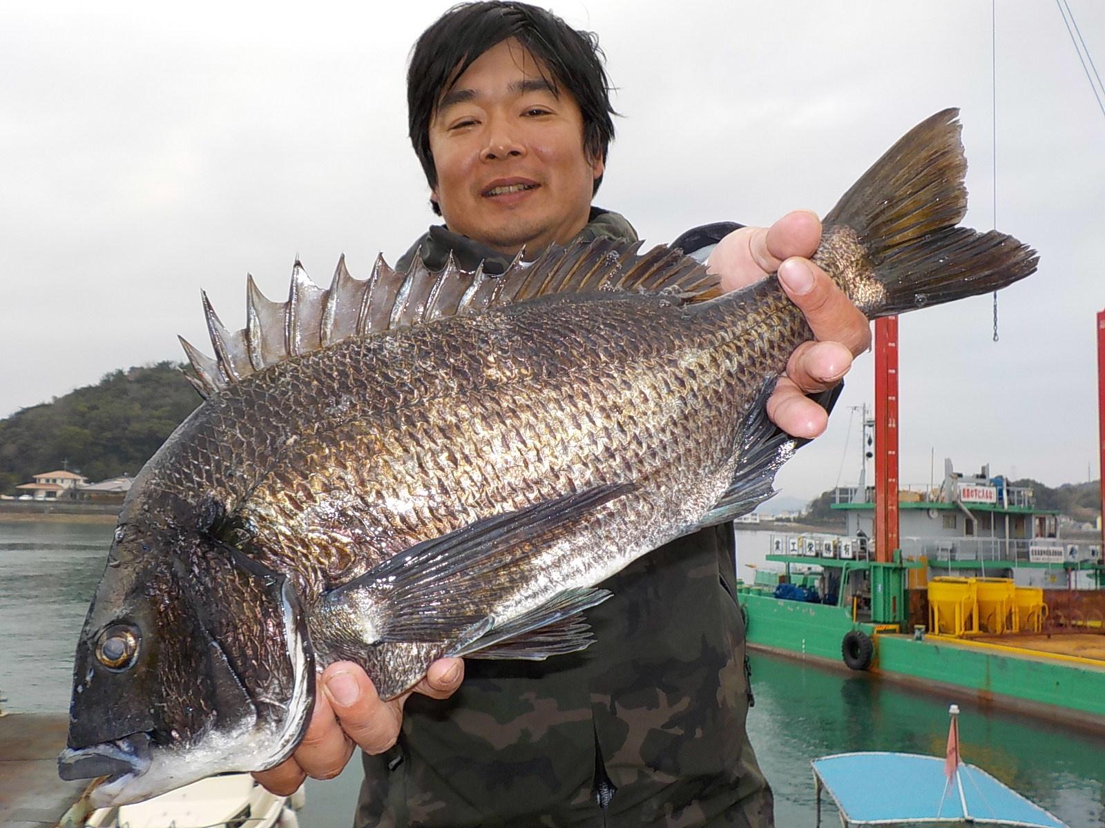3月29日 磯釣りで大津さん ガバチヌ51.5㎝