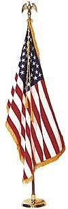 US Fahne mit Mast