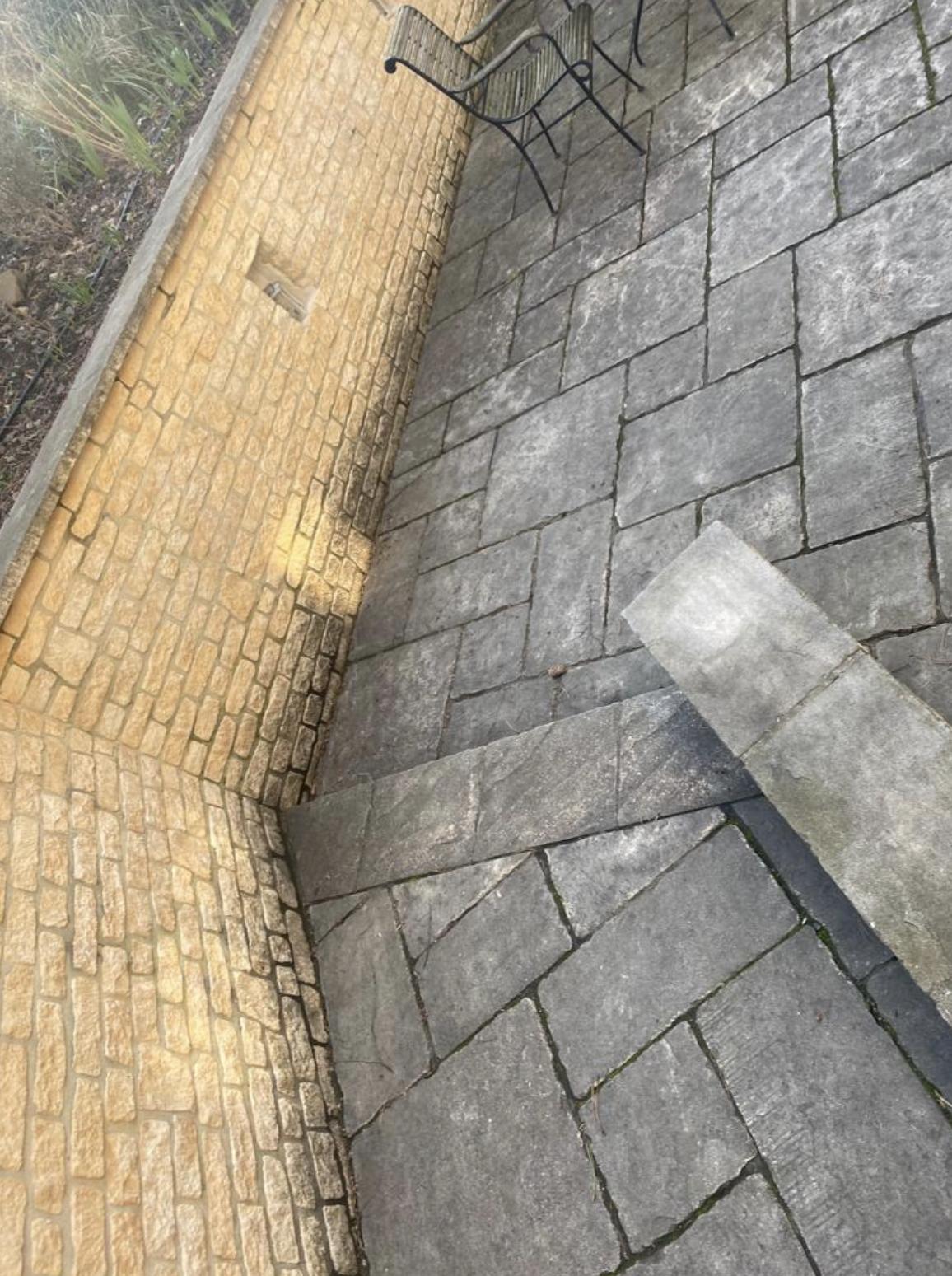Reinigung und Bearbeitung Naturstein (vorher)