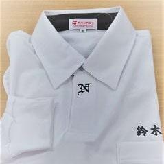 ポロシャツの刺繍イメージ