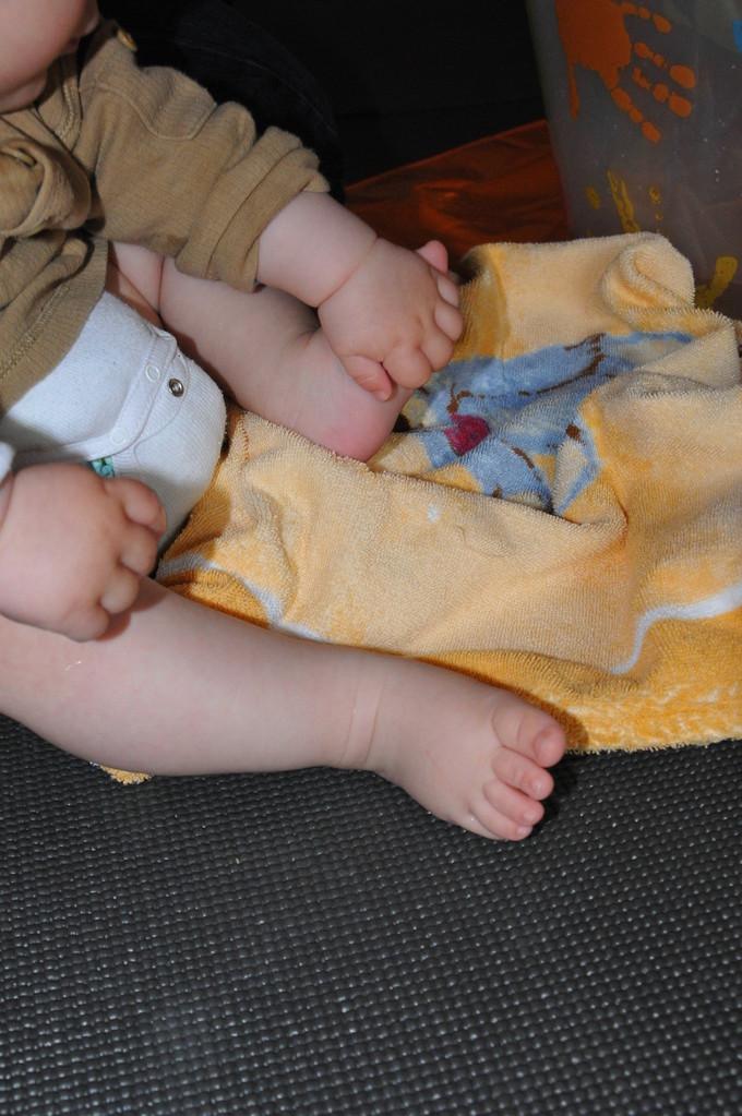...wie war das mit der Fußmassage - geht auch ohne Mama...